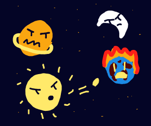 Epic battle in the constellations