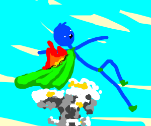 SUPER STICKMAN on fire/exploding