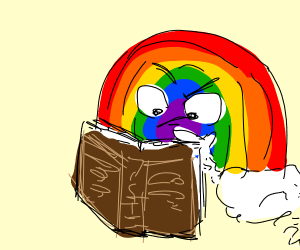 Rainbow judging a book
