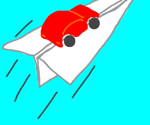 Paper Airplane Transport Car