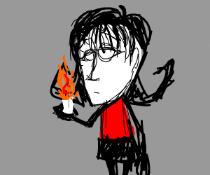 Girl from Don't Starve with a candle