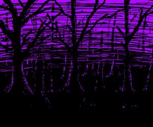 Creepy dark forest <3