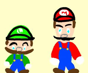 Mario and Luigi fusion. (Muigi/Lario)