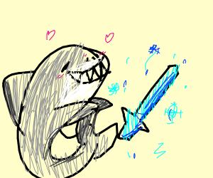 Shark Loves His Ice Sword