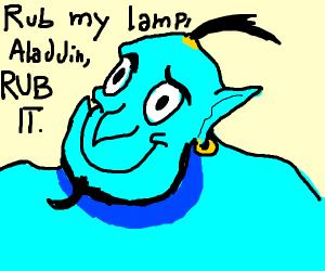 can i rub the genie lamp?