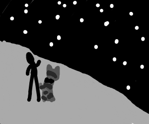 Stargazing with man's best friend