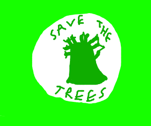 #SAVE THE TREES Logo