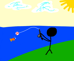 Fishing with a Baseball