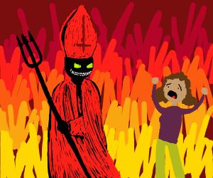 black pope horrifies lady