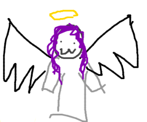 Purple haired angel