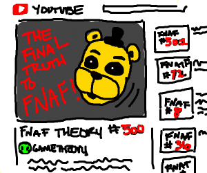 matpat making his 500th video on fnaf