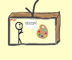 TV-man celebrates colours