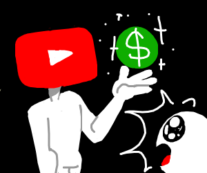 YouTube monetizing a video for once
