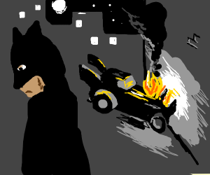 Batman messed it up