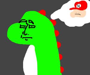 Yoshi has Baby Mario trauma