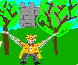 King in a Hammock