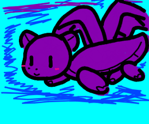 Happy purple dragon