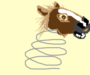 spring with a horse head