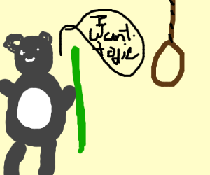 Cute panda craves death
