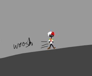 Todoroki running.