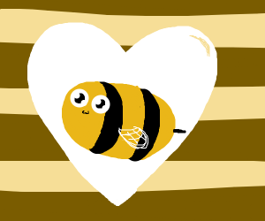 Bee's And Hearts Wallpaper