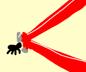 Spider expertly reflects laser beam