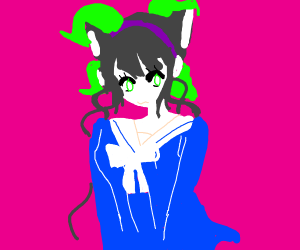 Catgirl with cat ears and human ears