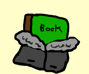 Book wearing a Coat