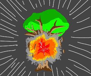 exploding trees