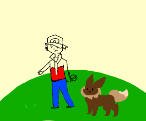 pokemon trainer and eevee