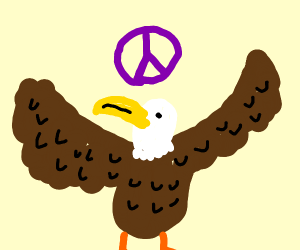 eagle peace sign