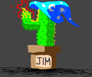 The cactus is a fire wizard