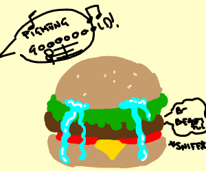 singing to your hamburger