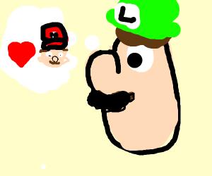 Luigi is thinking of mario
