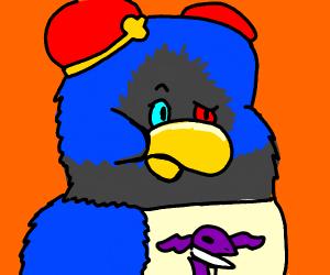 A blue bird questioning life