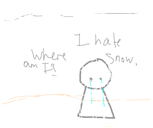 a person is crying because he is lost