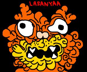mutated cat wants lasagna