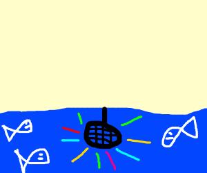 Underwater disco party!