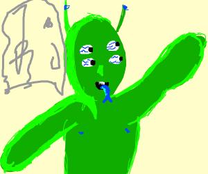 4 eyed Alien
