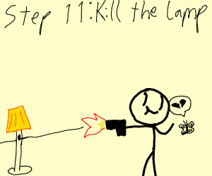 Step 10:The lamp has come to reclaim his love