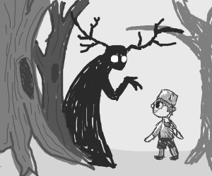 Greg talks to the Beast(over the garden wall)