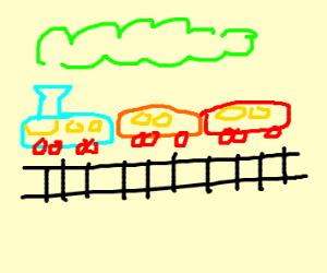 A colourful train
