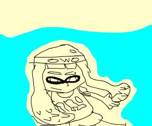 Inkling underwater with OwO headband