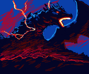 The dragon god of electricity