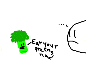 Sentient broccoli wants you to eat greens now