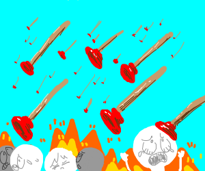 The attack of the flying plungers