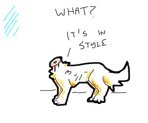 a headless talking dog