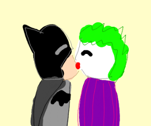 Batman and the joker kissing?!