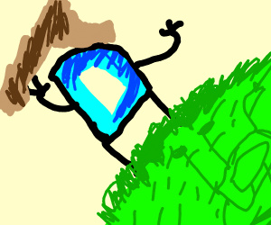 Drawception D's leaf tent collapsed on them