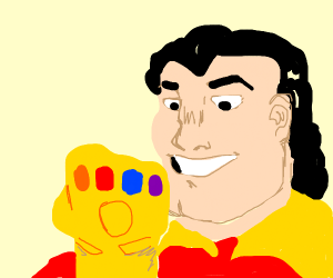Gaston has acquired the Infinity Gauntlet